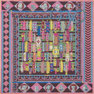 Hermes Scarf Colliers et Chiens